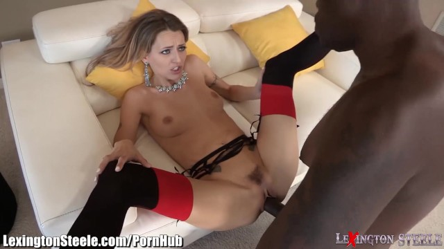 kennedy leigh giving him a wet blowjob and letting him